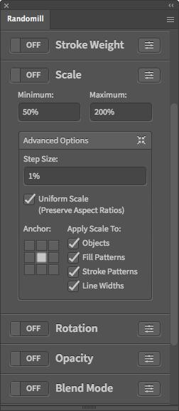 Illustrator Random Scale Script