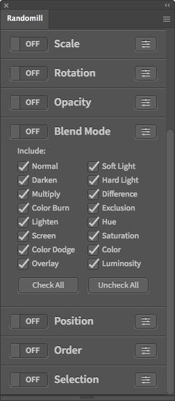 Illustrator Random Blend Mode Script